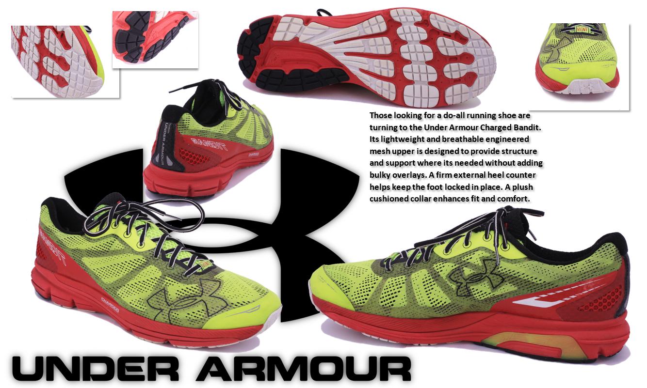 Uomini in armatura giallo giallo armatura / rosso carico bandito alto vis scarpe da corsa: dimensioni 11,5 8b4c5b