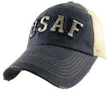 U.S. Air Force Insignia Hat / USAF Applique Mesh Baseball Cap 6321