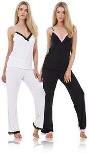 Ladies Soft Sleeveless PJ'S  Summer Lace Womens Plus Size Pyjamas Nightwear