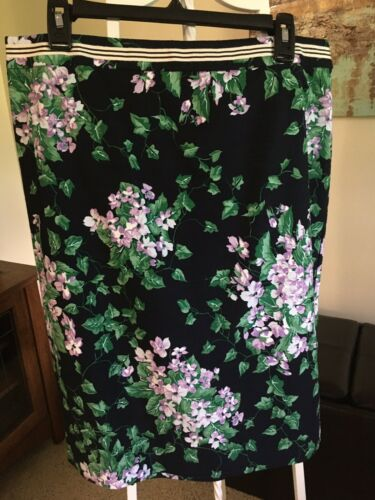 Talbots Oprah Collection Size 14 Skirt Lilacs Mint