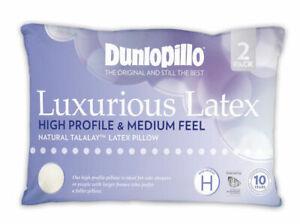 Dunlopillo-2-Pack-Luxurious-Latex-High-Profile-amp-Medium-Feel-Pillow