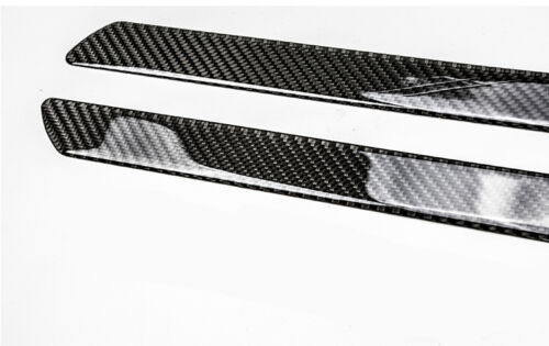 2x Universal 25.8CM Carbon Fiber Car Scuff Plate Door Sill Panel Step Protector