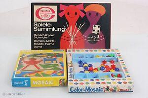 80er Jahre GemäßIgt Spiele Konvolut Spielesammlung Mosaik Color Mosaic Vintage 70er