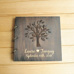 Image Is Loading Personalized Wedding Guest Book Custom Guestbook Wooden Tree