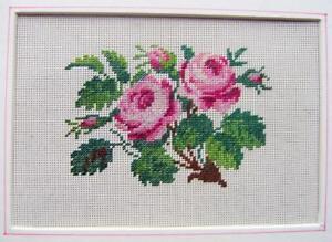 FLOWERS  ETC  NEEDLEWORK ROSES  ELIZABETH AMBROSE ARCHIVE (2)  C1830