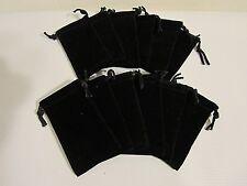 Black Jewelry Pouch Velour Velvet Gift Bag 2 X 35 Black Box Rrr