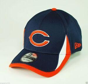 New Era Chicago Bears Hat Flex Fit Cap Men 3930 NFL Navy Blue ... b3059c78f41