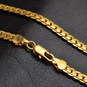 18k gold plated chain necklaces for mens kids stainless steel curb