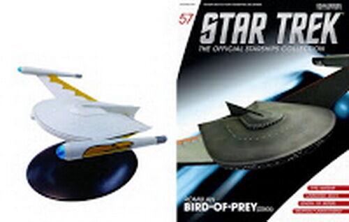 #57 Star Trek Romulan Bird Prey Die Cast Metal Ship-UK//Eaglemoss w Mag