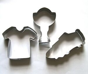 Sport soccer jersey shoe prize cup baking metal cookie cutter mold set