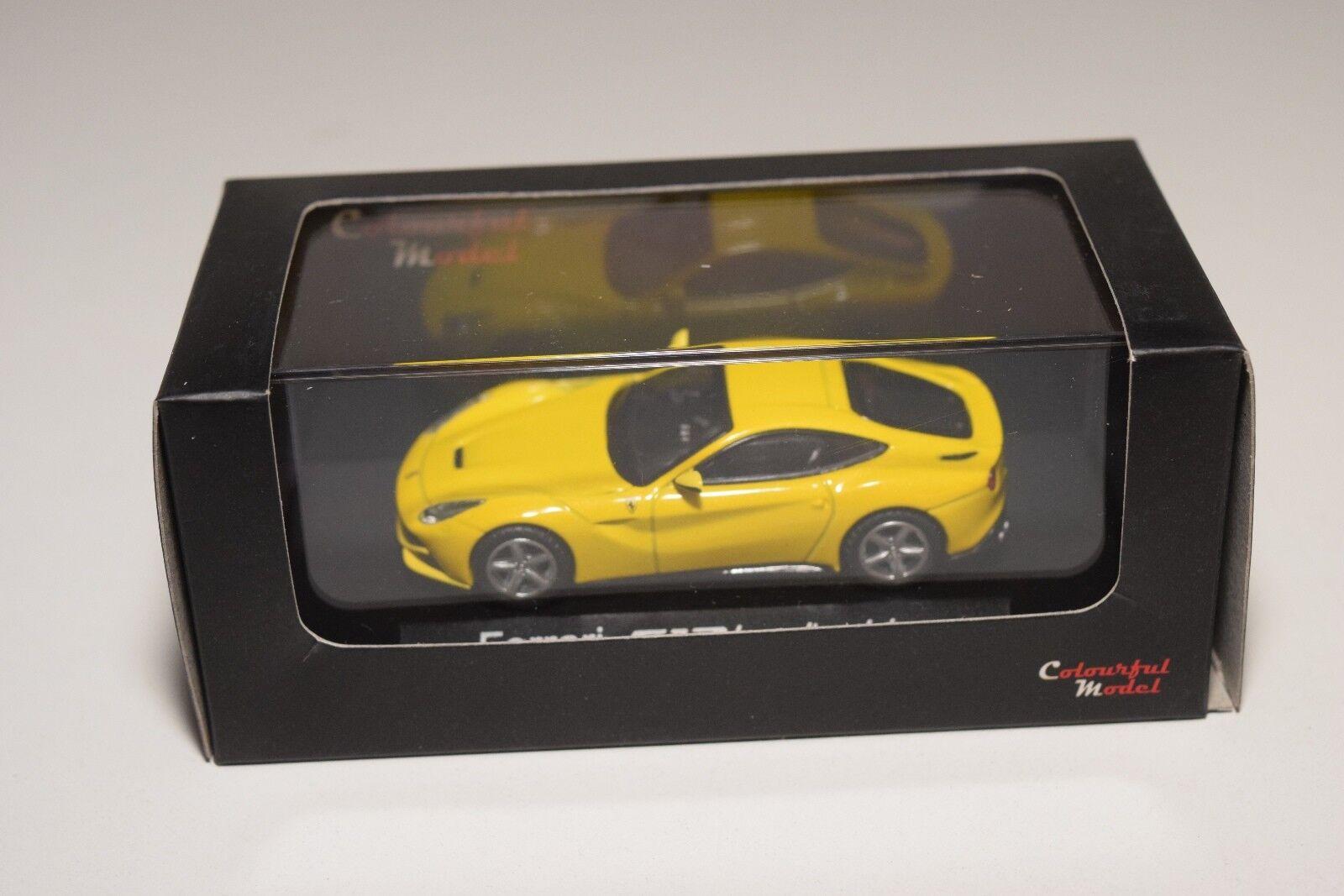 V 1 64 KYOSHO COLOURFUL MODEL CM FERRARI F12 BERLINETTA giallo MINT BOXED