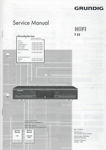 Grundig Service Anleitung Manual T 22 B890 Mangelware Tv, Video & Audio