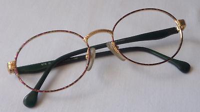 80er Occhiali Da Anni Versione Occhiali Ovale Classico Da Donna Senza Lenti Nuovo Size S-mostra Il Titolo Originale Facile Da Usare