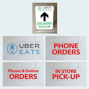 Details about UBER EATS Pick up Sign McDonalds & Restaurants Phone online  order pick up sign