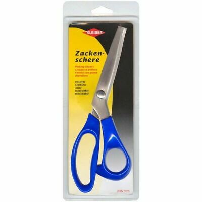 Kleiber 235 mm Tailors Stainless Steel Pinking Shears-Blue Handle