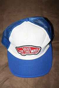 fe73d096fe0 Image is loading Mens-Vans-shoe-COMPANY-hat-BLUE-WHITE-snapback-