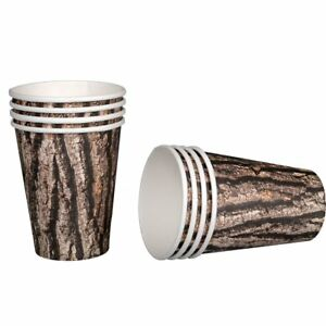 Cut Timber Outdoor Hunting Lumberjack Theme Birthday Party 12 oz. Paper Cups