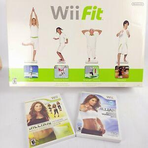 NINTENDO Wii Fit Board PLUS 2 Games!!! Wii Balance Board and Jillian Michael's