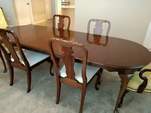 Details about HICKORY FURNITURE CO. American Masterpiece Dining Set Buffet  Server Table Chairs