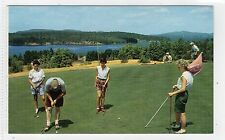 GOLFING, TUPPER LAKE: New York USA postcard (C7466)