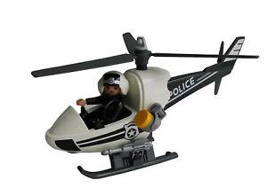 Playmobil-9372-Polizei-Hubschrauber-Figur-Rettung-Fahrzeug-Spielzeug-Neu