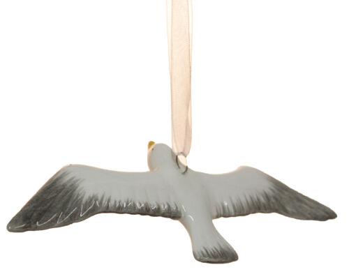 Pearlized Ceramic Seagull Christmas// Everyday Ornament