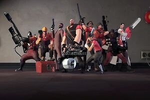 RGC Huge Poster - Team Fortress 2 Red Team All Classes PS3 XBOX 360 - TF2008