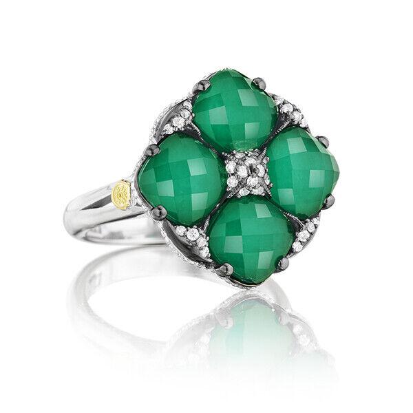 Women's Tacori  Green Onyx City Lights Pavé Gem Tilt Ring
