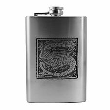 8oz Vintage Dragon Flask L1