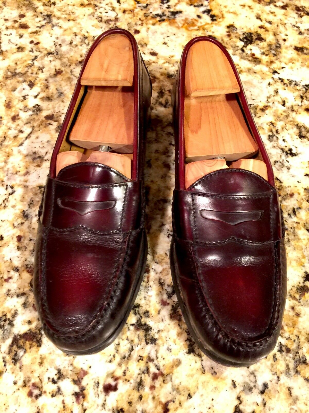 Cole Haan Pinch Penny Loafers - Men's Size 9B Burgundy