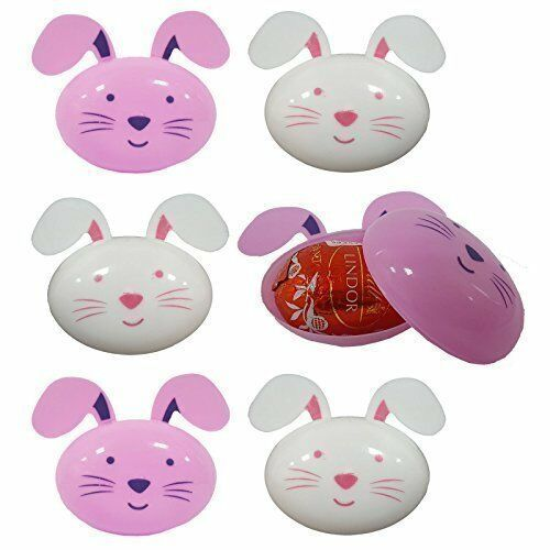 12 x Bunny Rabbit Shaped Plastic Eggs Easter Hunt Gift Decoration Accessories