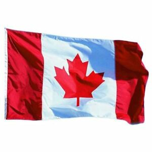 Canada Canadian Super Polyester 3x6 ft 3'x6' Flag Banner Official Country Size
