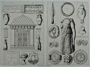 Poitou-et-Vendee-Gravure-O-de-la-ROCHEBRUNE-Archeologie-Antiquites-du-Langon