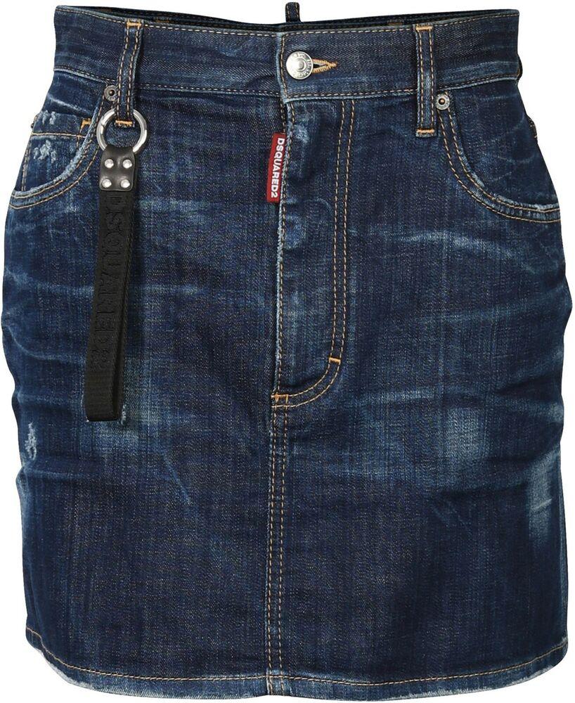 """""""women's D2 Dsquared Denim Skirt Blue Taille It 38 D 32/* 73123-001"""