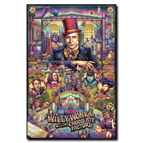 Willy Wonka /& the Chocolate Factory 12x18//24x36inch Movie Silk Poster Art Print