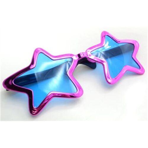 Pink Metallic Jumbo Star Sunglasses Glasses Fancy Dress Party Accessory