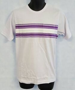 Mens-Umbro-By-Kim-Jones-Stripe-Print-Tee-Shirt-Size-X-Large-White-M387