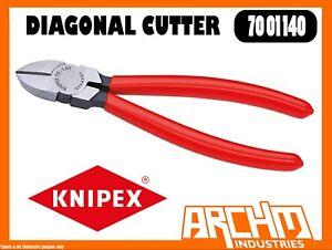 Knipex 7001110 Diagonal Cutter Black Atramentized Plastic Coated 4 1//4 In