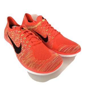 NEW-Rare-Nike-Free-4-0-Flyknit-Mens-US-15-Orange-Solar-Running-Shoes-717075-600