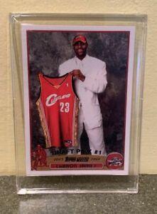 2003 Lebron James Topps 1 Draft Pick Rookie Card 221 Rp Bonus Card Ebay