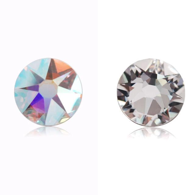 36~144 Swarovski 2088 16 Cuts Flatback Rhinestones SS12~SS30 Crystal AB/Crystal