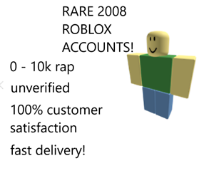 Rare Random 2008 Roblox Account Some Have Items And Rap Unverified Sale Ebay
