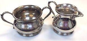 Apollo-Silver-Co-Silver-Plate-Cream-amp-Sugar-Set