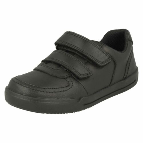 Boys Clarks Velcro School Shoes Mini Racer