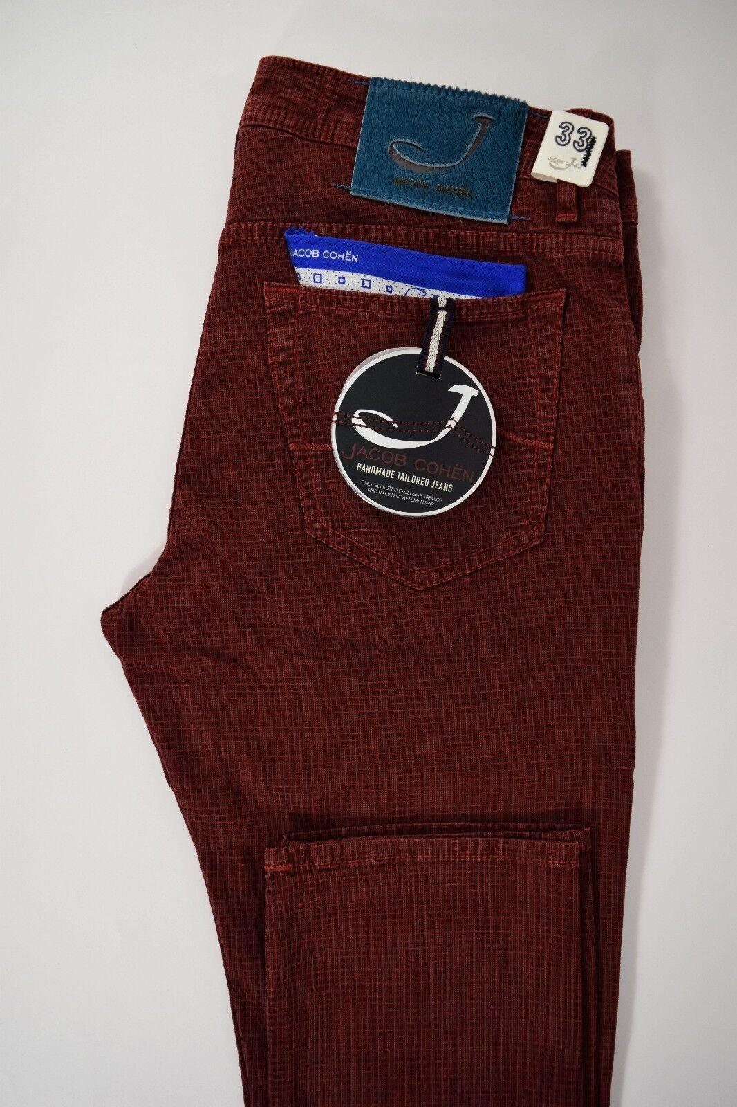 JACOB COHEN J688 comfort 5 tasche JEANS uomo pantalone COTONE stretch P E rosso