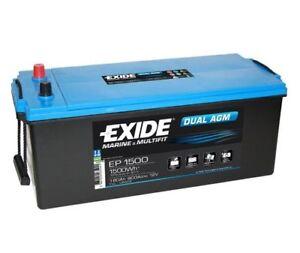 EXIDE Starter Battery EXIDE DUAL AGM EP1500