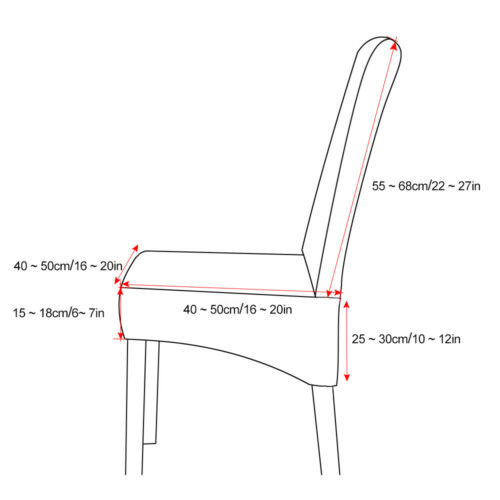 Dining Chair Covers Washable Knit Stretch Removable Chair Slipcover High Back Uk