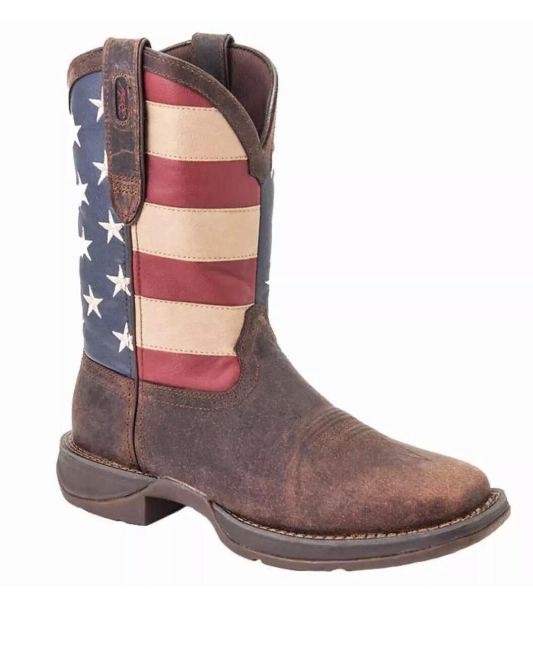 Durango para hombre Rebel DB5554 Patriótico S Toe Plena Flor botas occidental de cuero 10 D