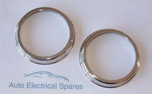 NEW-PAIR-chrome-retaining-rim-for-Lucas-L488-L594-lenses-572734