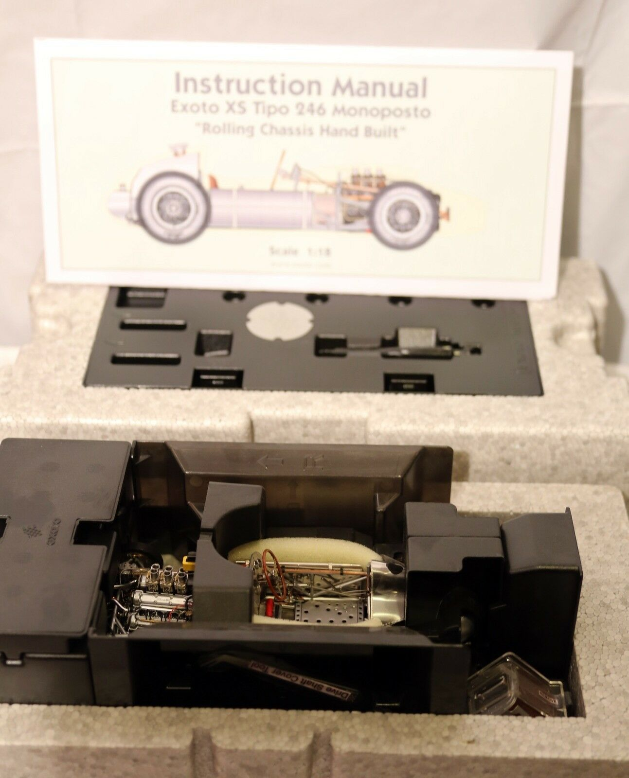 Exoto 1958 Tipo 246 Monoposto Monoposto Monoposto rolling chassis, new in box dfbc8b